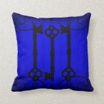 Elegancia del azul real almohadas