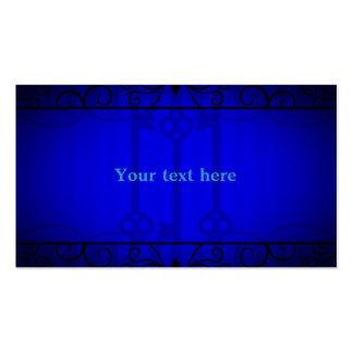 Elegancia del azul real plantilla de tarjeta personal