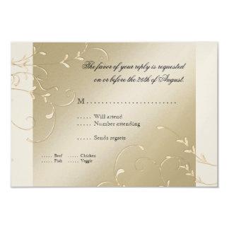 """Elegancia del lazo negro, invitaciones de boda invitación 3.5"""" x 5"""""""