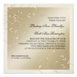"""Elegancia del lazo negro, invitaciones de boda invitación 5.25"""" x 5.25"""""""