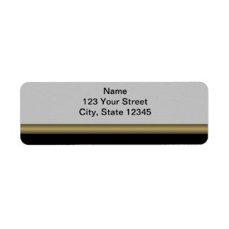 Elegancia del monograma en oro gris negro etiquetas de remite