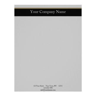 Elegancia del monograma en oro gris negro membrete a diseño