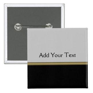 Elegancia del monograma en oro gris negro pin