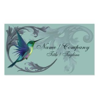 Elegancia del pájaro del tarareo tarjetas de visita
