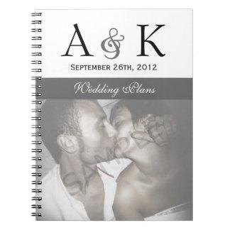 """Elegancia del signo """"&"""": Cuaderno gris del boda"""