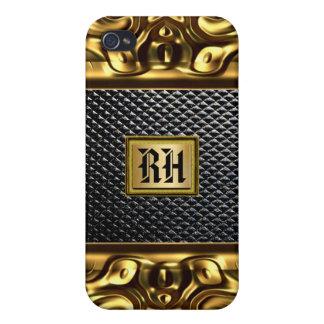 Elegancia en caso del iPhone 4 del cuero del negro iPhone 4/4S Carcasa