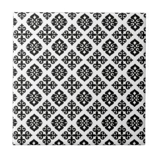 Elegancia en negro y blanco azulejo ceramica