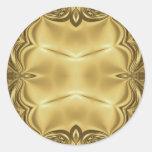 Elegancia en oro etiqueta redonda