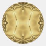 Elegancia en oro pegatinas redondas