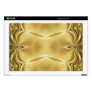 Elegancia en oro portátil skins