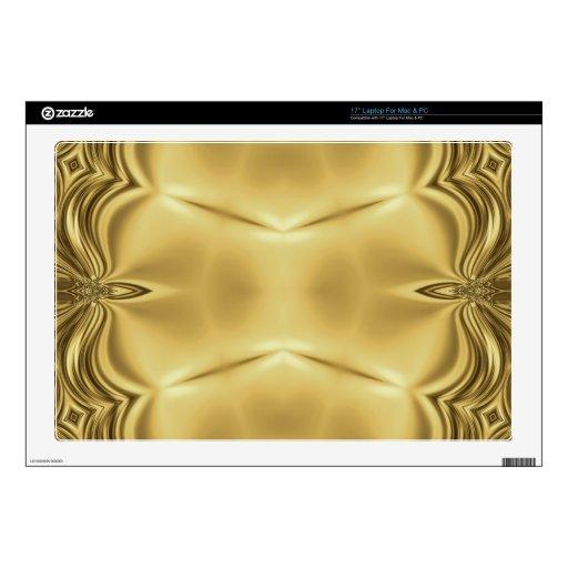 Elegancia en oro skins para portátiles