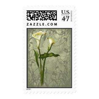 Elegancia floral de la cala sello