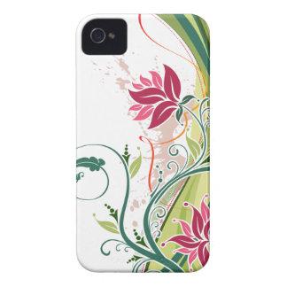 Elegancia floral de Swirly Funda Para iPhone 4 De Case-Mate