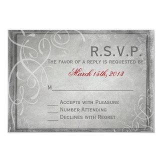 Elegancia gris sutil - tarjeta de RSVP Invitación 8,9 X 12,7 Cm
