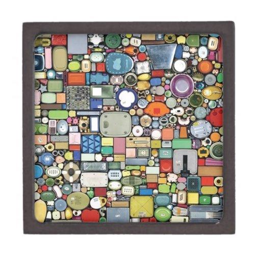 Elegancia mágica plástica cajas de joyas de calidad