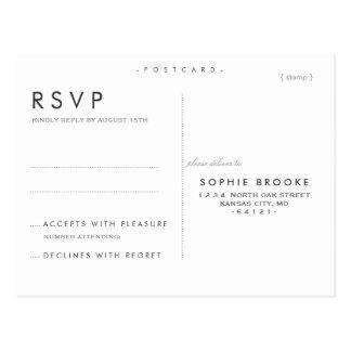Elegancia minimizada que casa la postal de RSVP