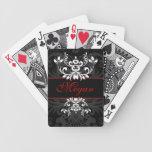 Elegancia oscura modificada para requisitos partic baraja de cartas