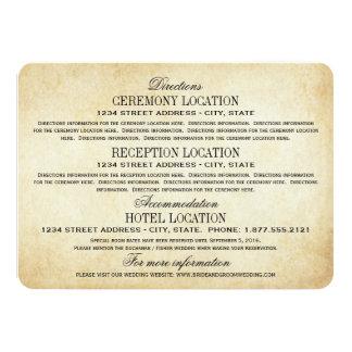 Elegancia rústica de las tarjetas de información invitación 11,4 x 15,8 cm