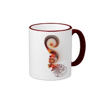 Elegancia suave taza de dos colores