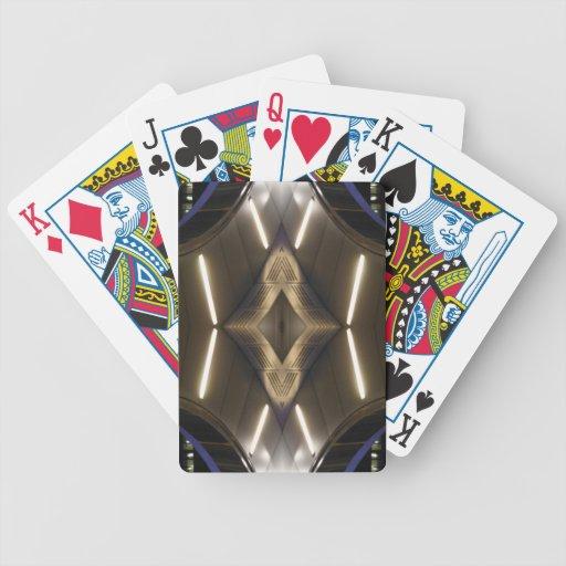 Elegancia urbana inusual futurista de las señales  baraja de cartas