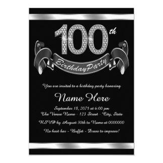 Elegant 100th Birthday Party Card