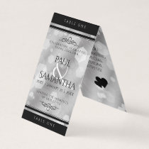 Elegant 10th Tin Wedding Anniversary Table Card