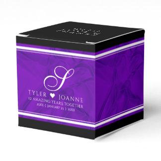 Elegant 12th Silk Wedding Anniversary Celebration Favor Box