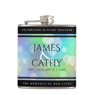 14th Anniversary Hip Flask 14 Year Anniversary Gift for Him