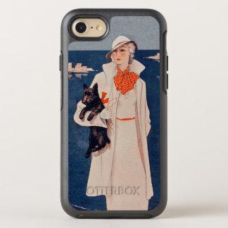Elegant 1930s Vintage Lady in White Scottish Dog OtterBox Symmetry iPhone 7 Case