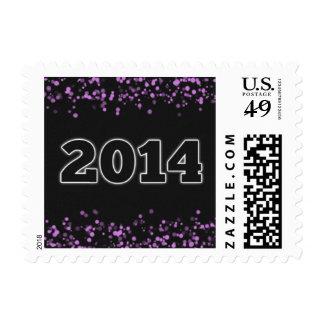 Elegant 2014 New Years Stamp