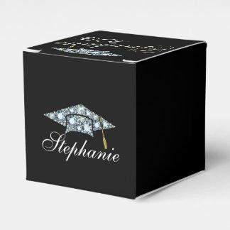 Elegant 2015 Diamond Graduation Cap Party Favor Boxes