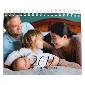 Elegant 2019 family photo calendar