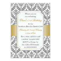 Elegant 21st Birthday party Invitation