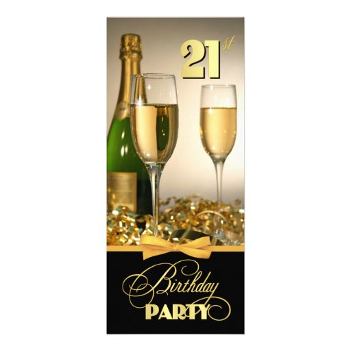 Elegant 21st Birthday Party Invitations