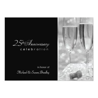 """Elegant 25th Anniversary Party Invitation 5"""" X 7"""" Invitation Card"""
