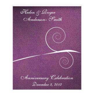 Elegant 25th Anniversary Purple Damask Swirl Flyer