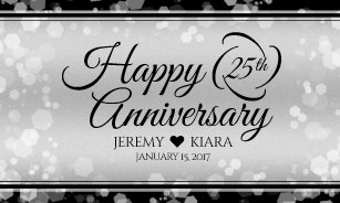 25th anniversary banners signs zazzle