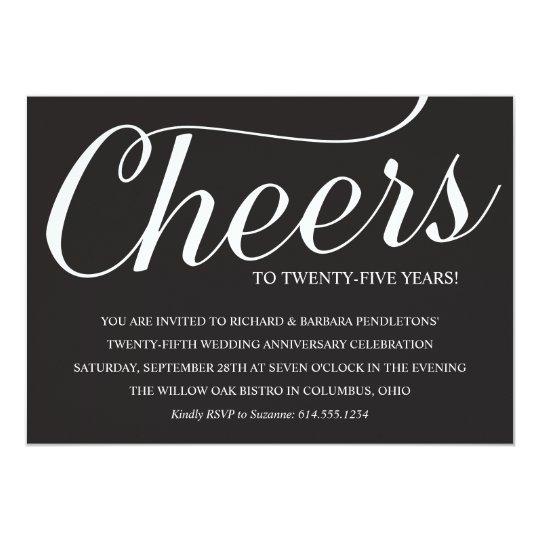 Elegant 25th Wedding Anniversary Party Invitation