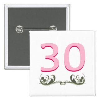Elegant 30th Gift Button