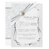 Elegant 30th Pearl Anniversary Design Invitation