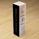 "Elegant 30th Pearl Wedding Anniversary Celebration Wine Box<br><div class=""desc"">Add an extra special touch to 30th wedding anniversary celebrations with this commemorative wine gift box! Elegant black serif and sans serif lettering with strings of pearls on a pearlescent background add a memorable touch for this special occasion and extraordinary milestone. Customize with the happy couple&#39;s names and the years...</div>"