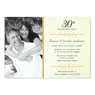 30th Wedding Anniversary Invitations & Announcements | Zazzle