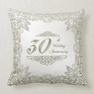 Elegant 30th Wedding Anniversary Throw Pillow