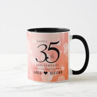 Elegant 35th Coral Wedding Anniversary Celebration Mug