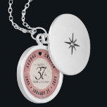 """Elegant 37th Alabaster Wedding Anniversary Locket Necklace<br><div class=""""desc"""">Celebrate the 37th wedding anniversary in style with this commemorative locket! Elegant black lettering on a creamy, fine-grained white and rose gold marbled background add a memorable touch for this special occasion and extraordinary milestone. Customize with the happy couple's names, and add a date for their alabaster anniversary. Design ©...</div>"""