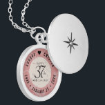 "Elegant 37th Alabaster Wedding Anniversary Locket Necklace<br><div class=""desc"">Celebrate the 37th wedding anniversary in style with this commemorative locket! Elegant black lettering on a creamy, fine-grained white and rose gold marbled background add a memorable touch for this special occasion and extraordinary milestone. Customize with the happy couple's names, and add a date for their alabaster anniversary. Design ©...</div>"