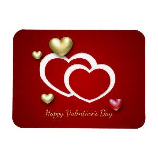 Elegant 3D Valentine Hearts - Flexible Magnet