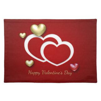 Elegant 3D Valentine Hearts - Placemat