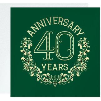 Elegant 40th Anniversary Invitation