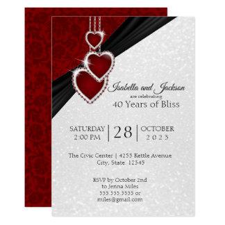 Elegant 40th Ruby Anniversary Design Invitation